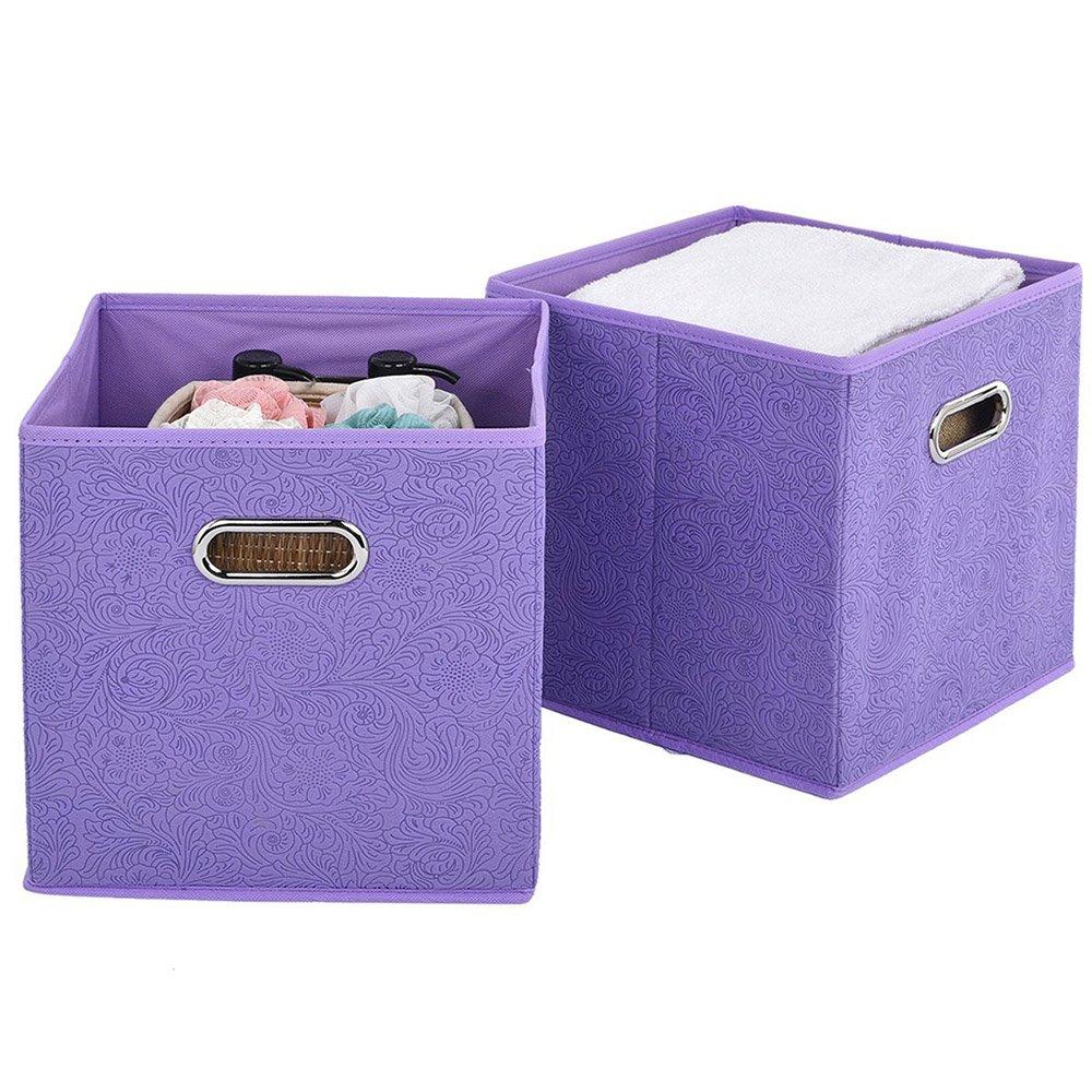 VCCUCINE Foldable Fabric 2 Packs Dark Brown Storage Drawers Cube Basket Bins,Cubeicals Organizers Cloths Baskets Ltd. 4335516829