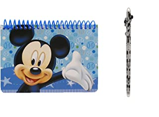 Disney Mickey Mouse Spiral Autograph Book Light Blue and 1 Beatiful Pen by Mickey Mouse