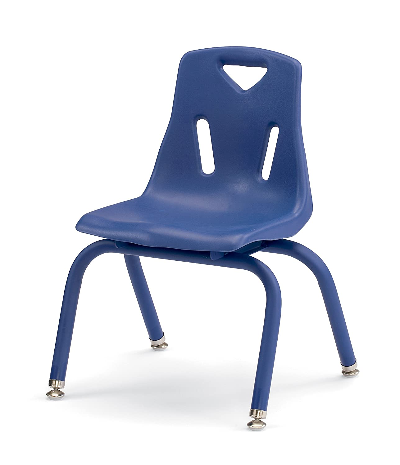 Berries 8122JC1003 Stacking Chair with Powder-Coated Legs, 12 Height, Blue