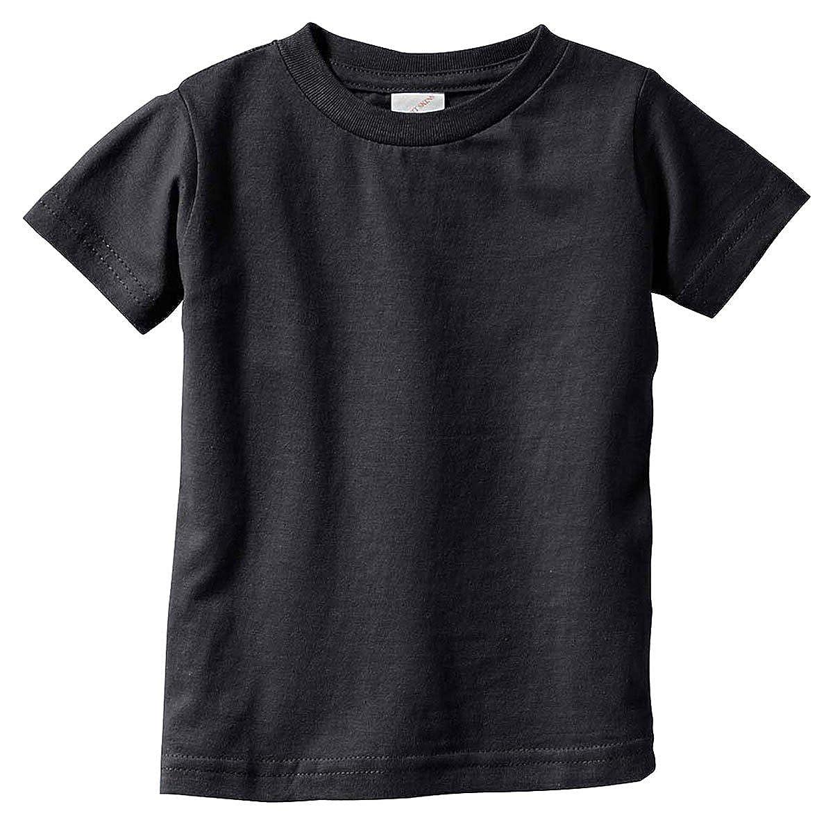 - BLACK 6MOS 3322 Fine Jersey T-Shirt Rabbit Skins Baby 4.5 Oz