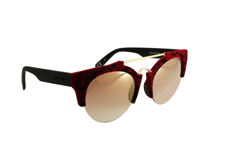 23992e35ed42 ITALIA INDEPENDENT Women's Sunglasses multicolour VELVET BLACK/RED:  Amazon.co.uk: Clothing