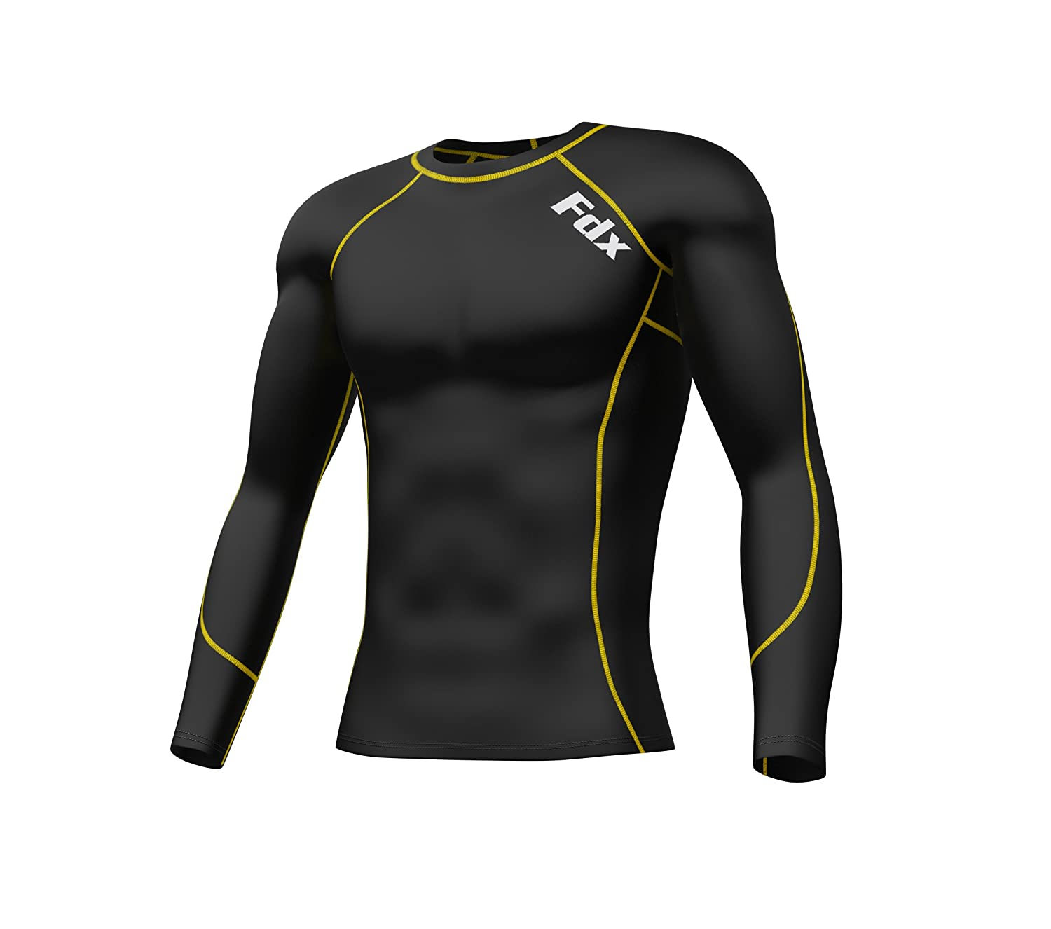 d11a8f4ce6 FDX Mens & Boys Compression Armour Base Layer Top Long Sleeve Thermal Multi  Sport Shirt: Amazon.co.uk: Sports & Outdoors
