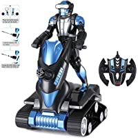 Modern-depo Rastar Wolf Warriors Kids Toys Shooting Robot for Children with LED Light & USB Charging - Black