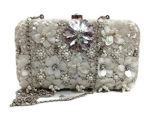 exquisite craftsmanship hot-selling real sale Pearl white modern vintage party clutch evening purse stone ...