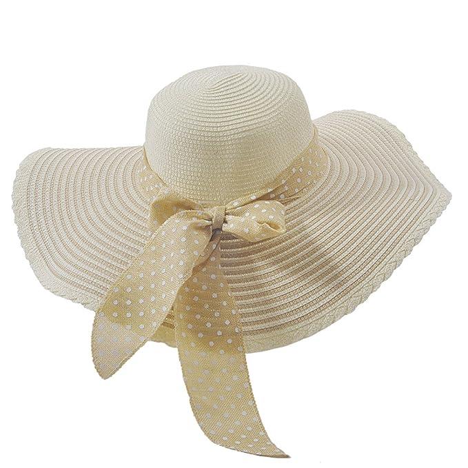 56e1e09a17bba La Sra Verano Los Rayos UV Gran Sombrero De Ala Ancha Playa Protección Del  Cuello Oculto Casquillo Del Recorrido