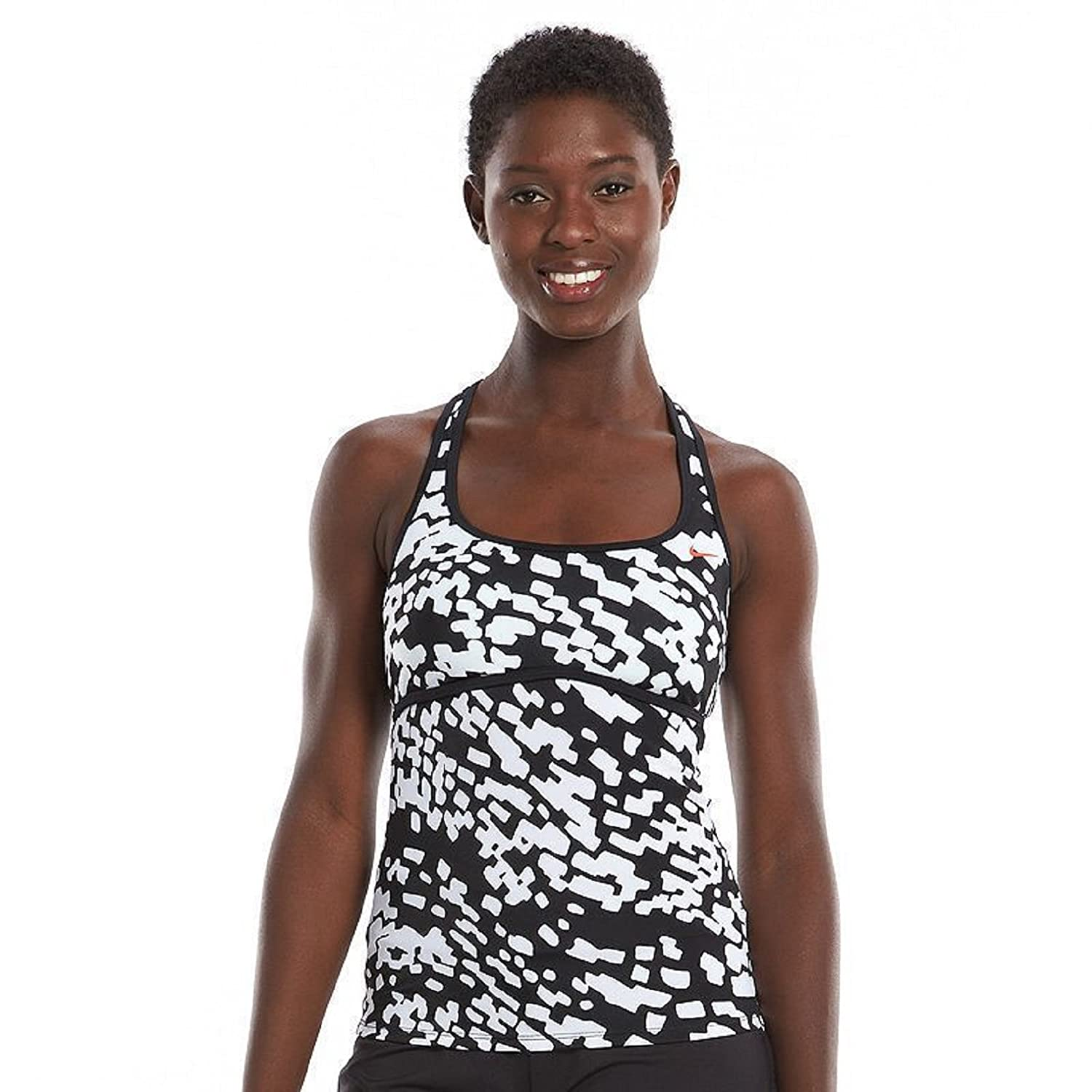 1baf63fa16f Amazon.com: Nike Women's Drifter Racerback Tankini Top (Black, Small ...