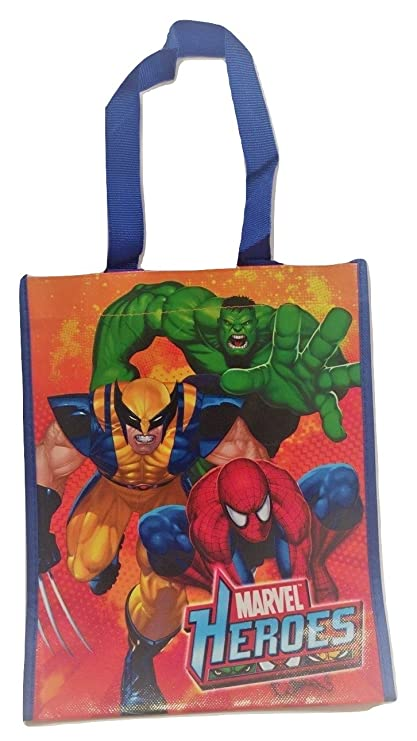 Amazon.com: Marvel Heroes reciclado bolsa ~ Hulk, Spiderman ...