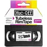 Muc-Off Tubeless Rim Tape, 30mm - Pressure-Sensitive Adhesive Rim Tape for Tubeless Bike Tyre Setups - 10 Metre Roll…