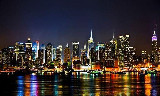 Custom New York City Canvas Affiche Vue Magnifique Fond D