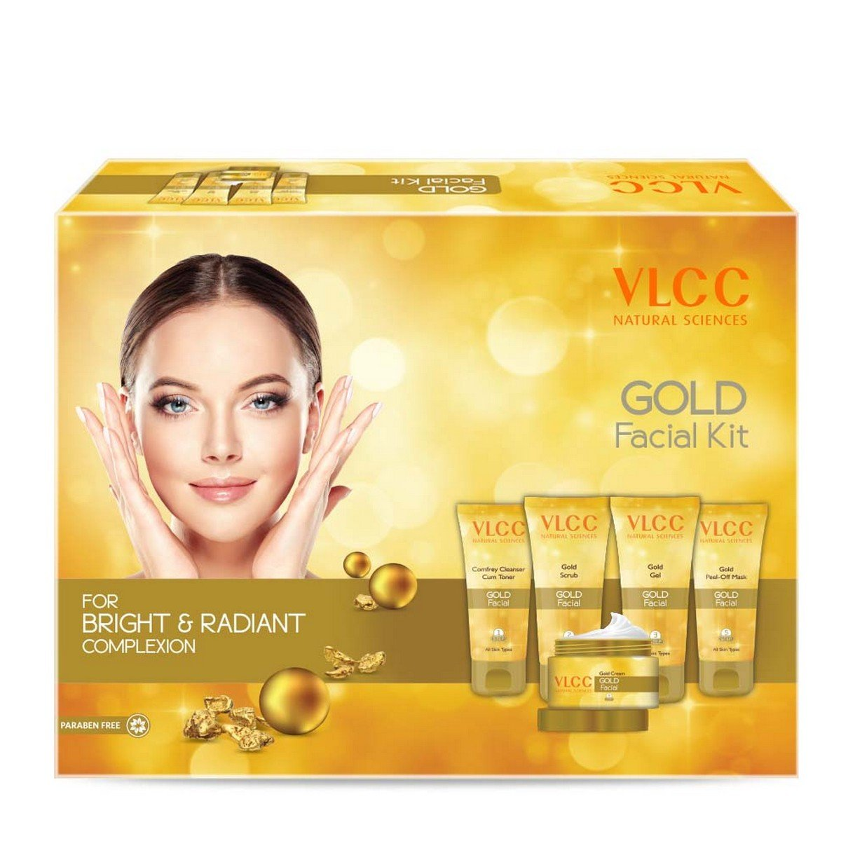 VLCC Professional Salon Series Gold Radiance Facial Kit by VLCC