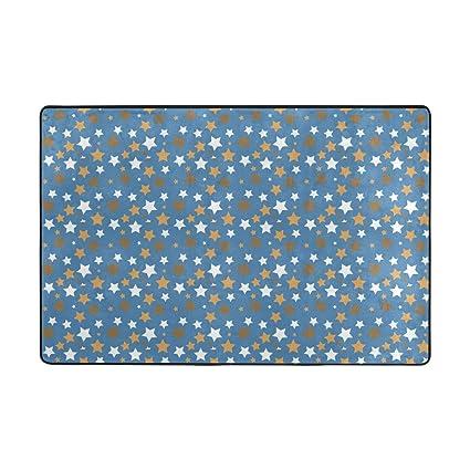 a16c84d7ec2a Amazon.com  Area Rug Pads for Floors Color Star Blue Background ...