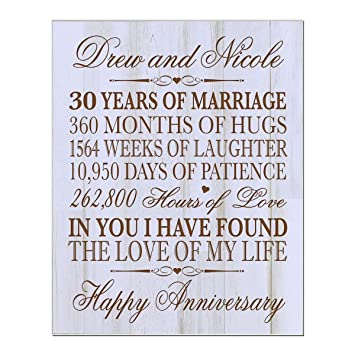30Th Wedding Anniversary Gift | Amazon Com Lifesong Milestones Personalized 30th Wedding