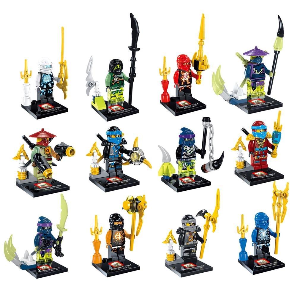 Amazon.com: 12 Piece NINJAGO Ninja ninjaed Darkseid Super ...