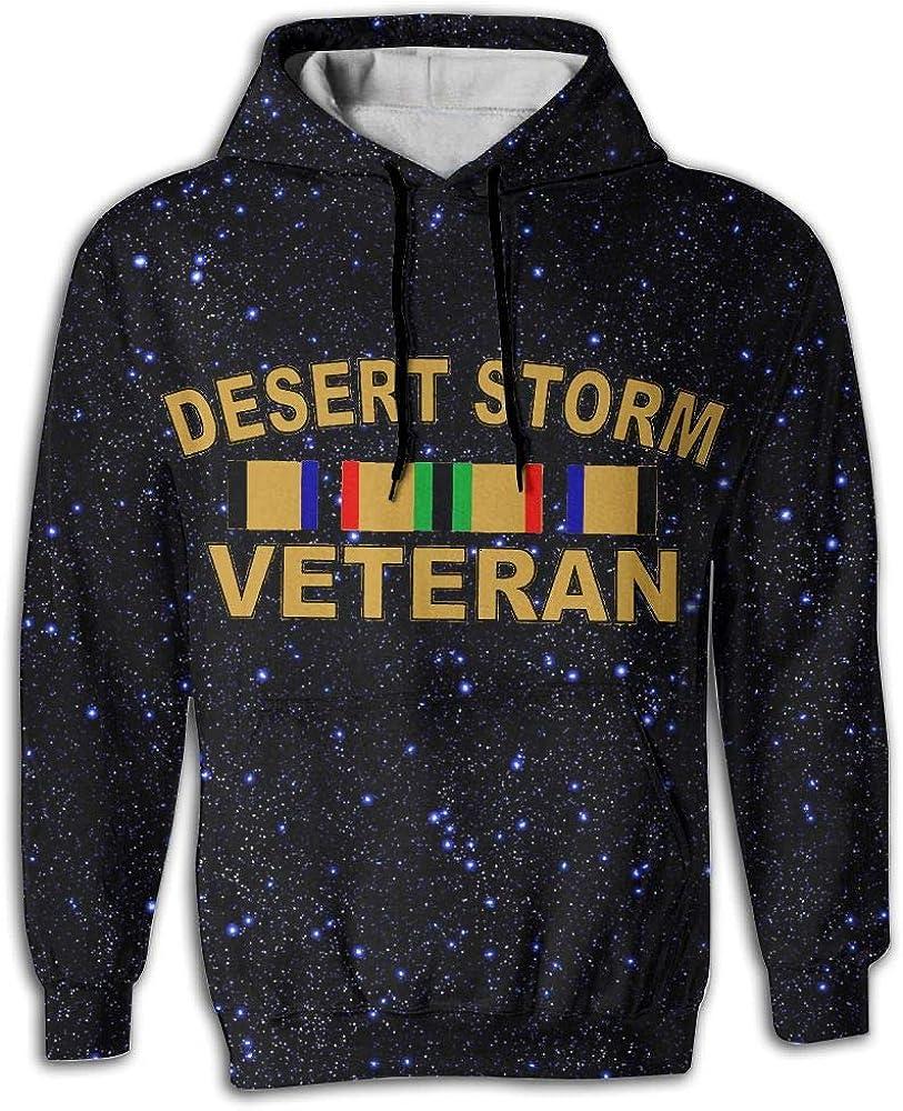 CMXBC Desert Storm Veteran Men 3D Pullover Long Sleeve Hoodies Tops