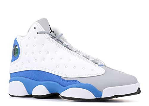 wholesale dealer bbd82 db735 Nike Big Kids Jordan Retro 13 GG White Italy Blue-Wolf Grey (4