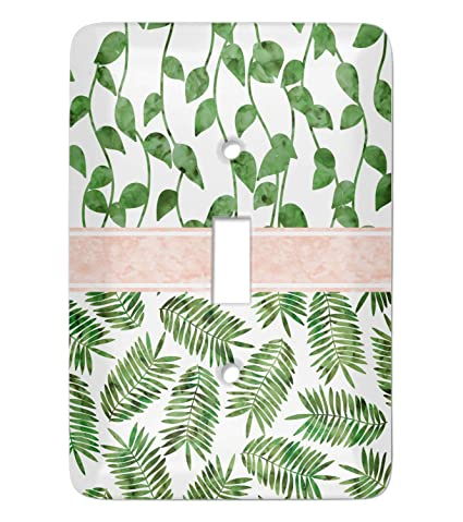 Tropical Leaves Light Switch Cover Single Toggle Personalized
