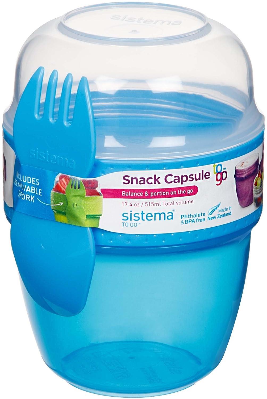 Sistema Snack Capsule to Go, Assorted Colours, 515 ml: Amazon.co.uk ...