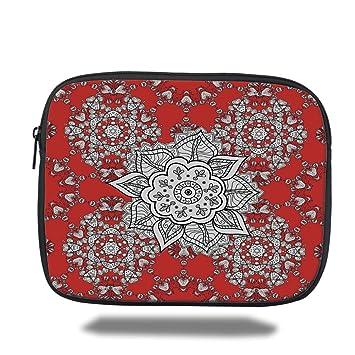 a928976e3a74 Amazon.com: iPrint iPad Bag,Red Mandala,Tribal Asian Ethnic Design ...