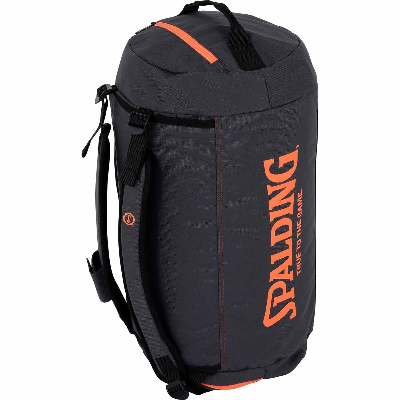 Spalding Duffle Bag Bolsa con función de Mochila, Antracita/Naranja Intenso, Talla Única 300453302