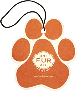 product image for One Fur All Pet House Car Air Freshener, Pack of 4 – Mandarin Sage - Non-Toxic Auto Air Freshener, Pet Odor Eliminating Air Freshener for Car, Ideal for Small Spaces, Dye Free Dog Car Air Freshener