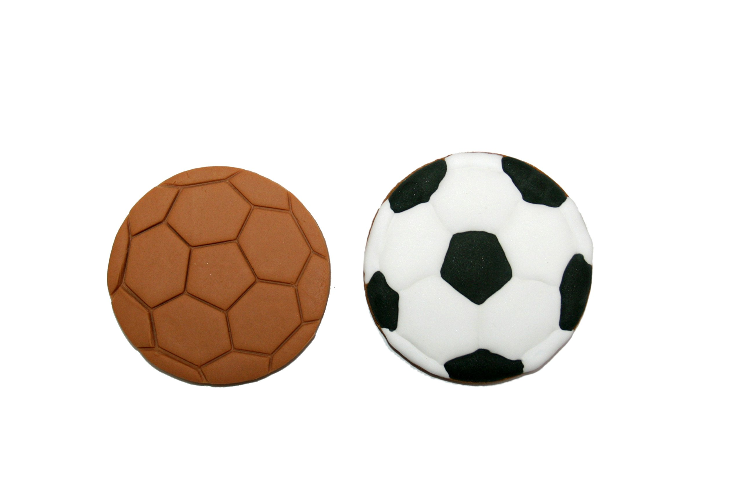 Soccer Ball Cookie Cutter 2 Approx. 3 inches wide by 3 inches tall HANDWASH ONLY Plastic-PLA