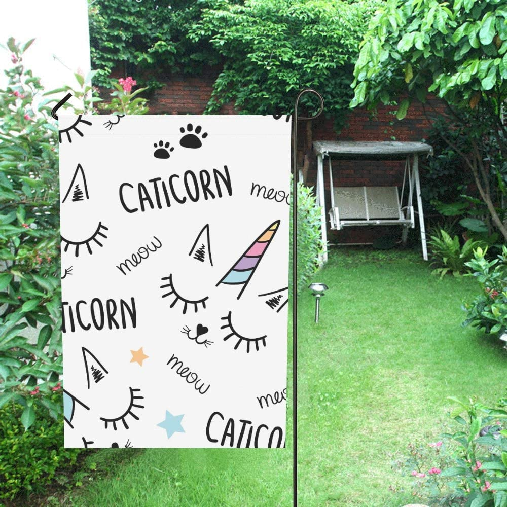 Inicio Decorativo Exterior Doble cara Gato Unicornio Textil Textil ...