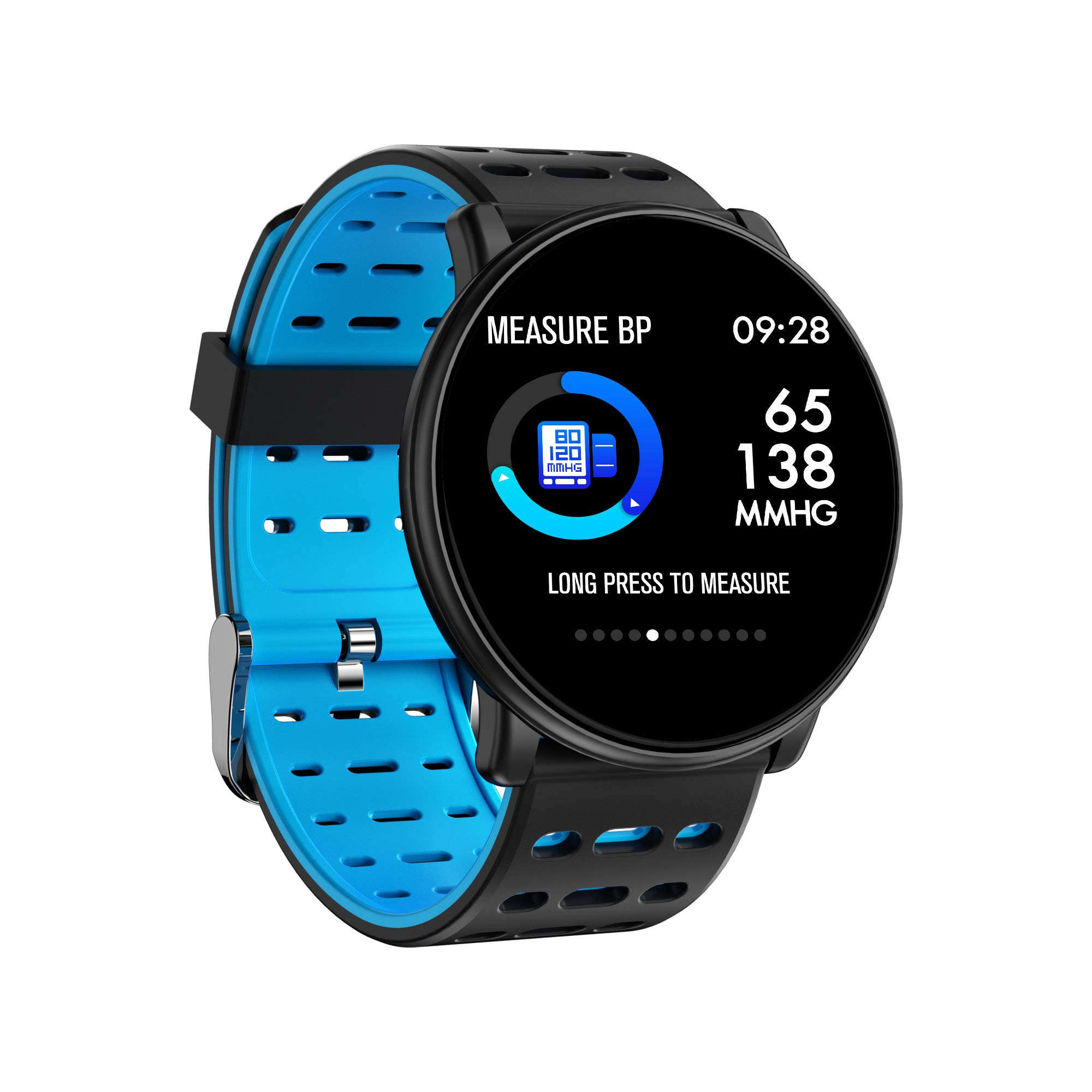 Byoung Smart Bracelet for Women,Bluetooth Fitness Tracker Color Screen with All-Day Heart Rate Tracking Activity Tracker Sleep Monitoring Waterproof Calorie Counter Pedometer for iOS Andriod - Blue