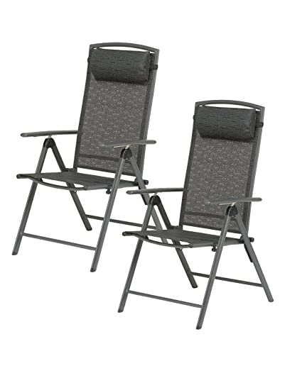 Amazon.com: Valencia Black Garden Furniture Recliner Chair ...