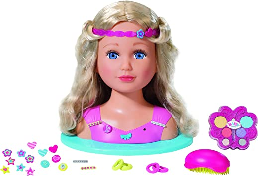 Baby Born 824788 Sister Styling Kids Play Makeup Hair Dressing Heads Amazon Co Uk Toys Games