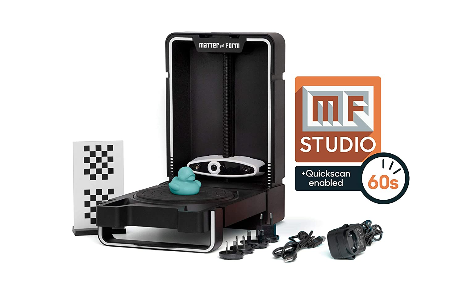 Matter & Form MFS1V2 3D Scanner V2 +Quickscan, Negro: Amazon.es ...