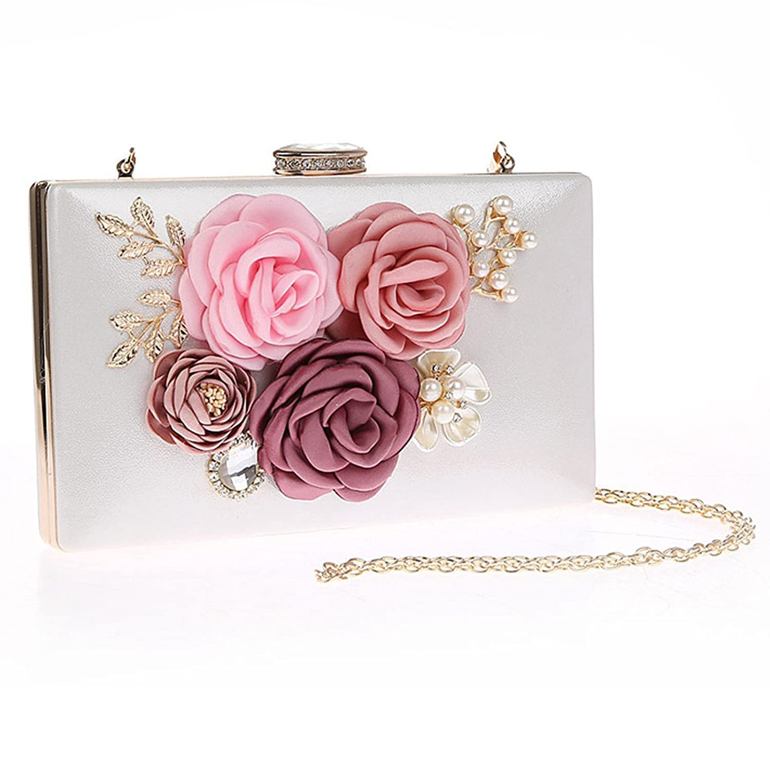 Womens Floral Evening Bag Clutch Purse for Wedding Party Prom