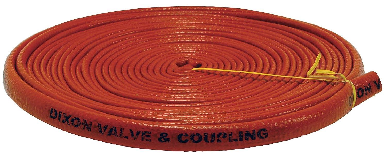 50 Length 2-1//2 ID 50/' Length 2-1//2 ID Dixon Valve /& Coupling Dixon Valve 6410-40 Iron Oxide Red Fiberglass Hose Fire Jacket