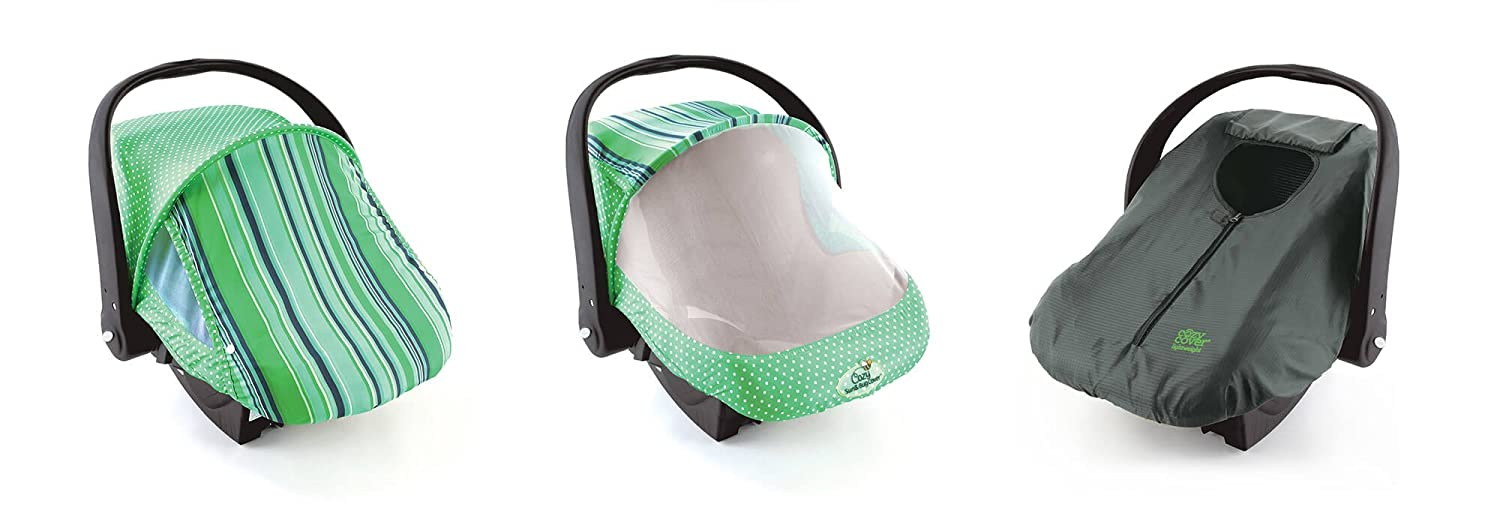 Cozy Combo Pack (Blue Stripe) – 'Sun & Bug Cover' Plus 'Cozy Cover' Infant Carrier Covers - Trusted By Over 5 Million Moms Worldwide – Protects Your Baby From Mosquitos, Insects, the Sun, Wind & Rain 4503CP