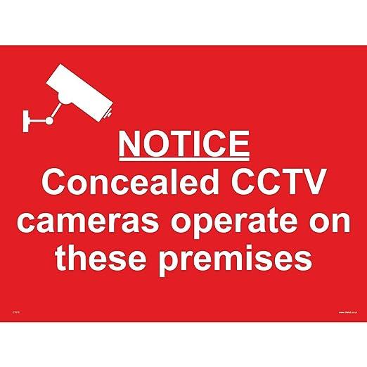 Señales de seguridad CCTV CT013 aviso oculta CCTV cámaras ...