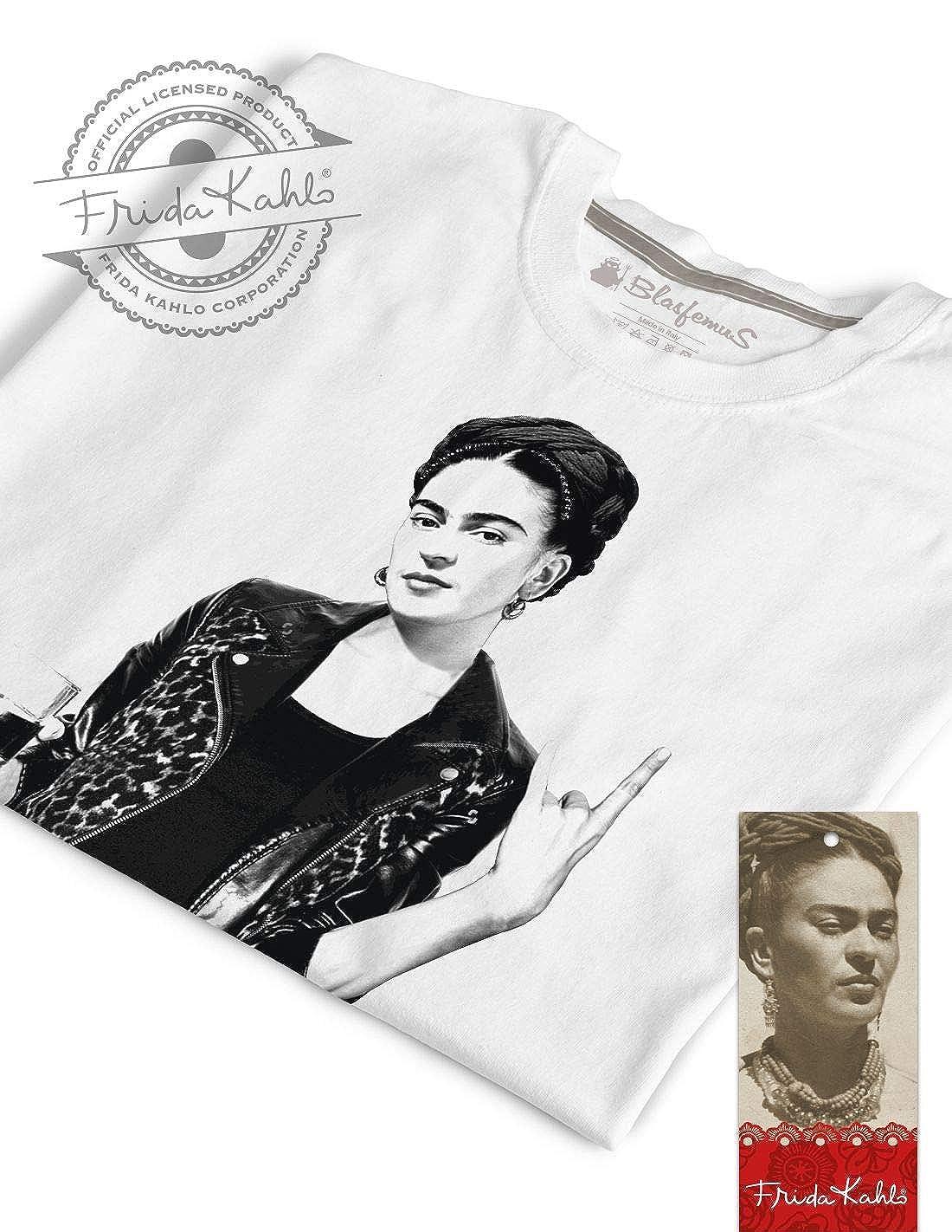 Frida Kahlo Ufficiale Stile Rock T-Shirt Donna