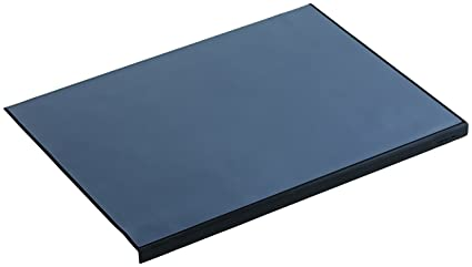 Attirant Durable 729301 Desk Mat With Edge Protector 650 X 500 Mm Black
