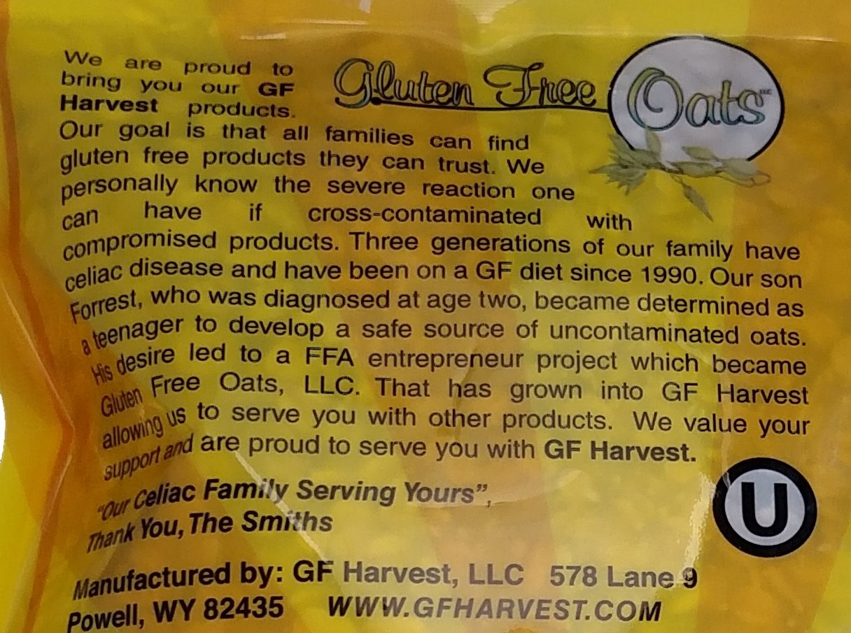 GF Harvest Gluten Free Certified Organic Rolled Oats, Non GMO, 41oz Bag by GF Harvest (Image #3)