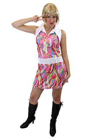 DRESS ME UP - Funky! Vestido Disfraz Feminino, Años 60, Estilo ...