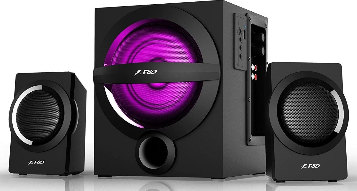 F&D A140X 37W 2.1 Bluetooth Multimedia Speaker with Multi Color LED- Black