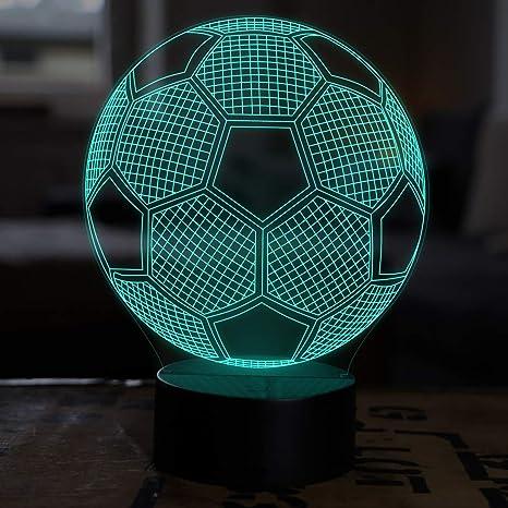 Led Deko Lampe Fussball Elbeffekt Fussball Kinder Deko Fussball Lampe Kinderzimmer Geschenk Fussball