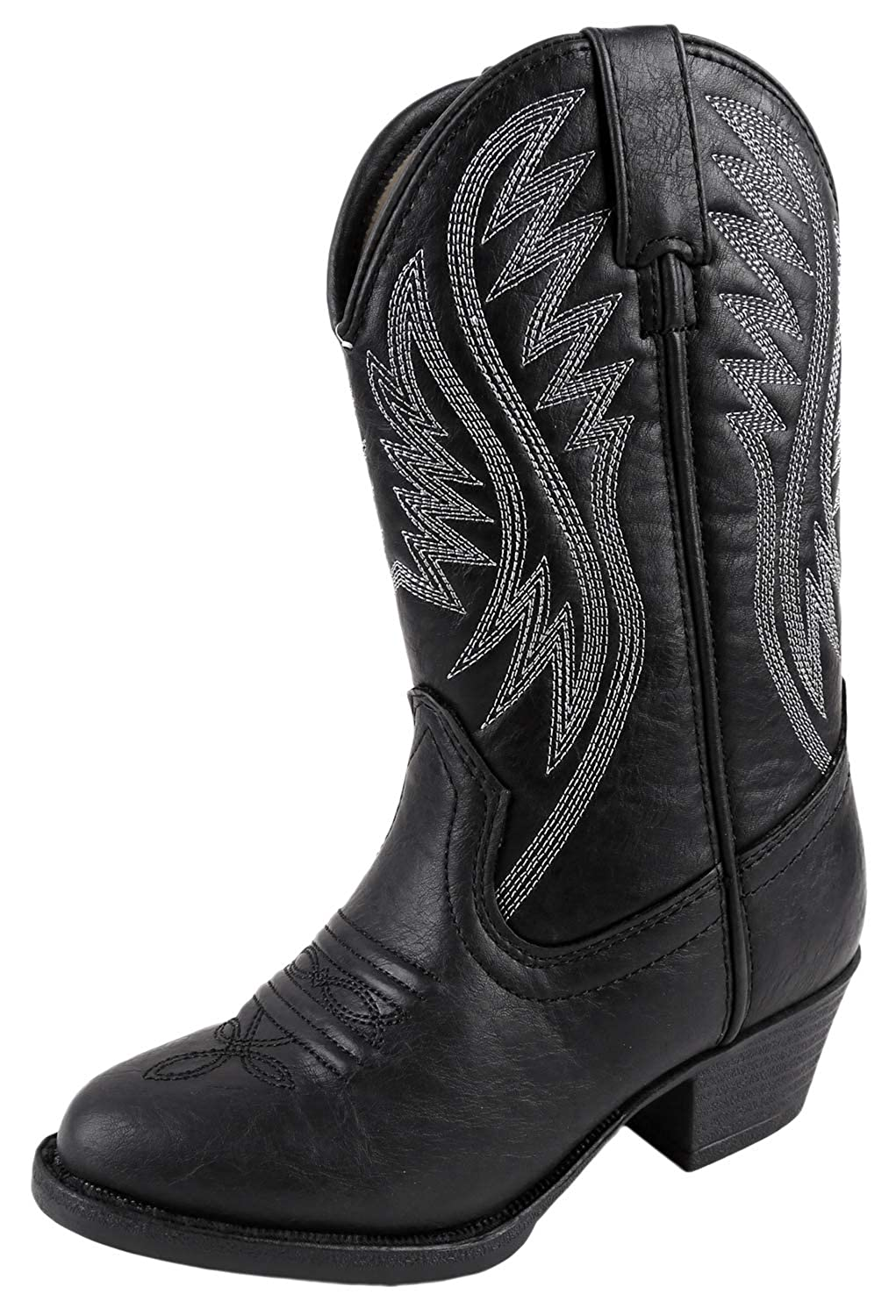 cd8c30914d6 Smoky Mountain Girls' Mesquite Western Boot Round Toe Black 10.5 D
