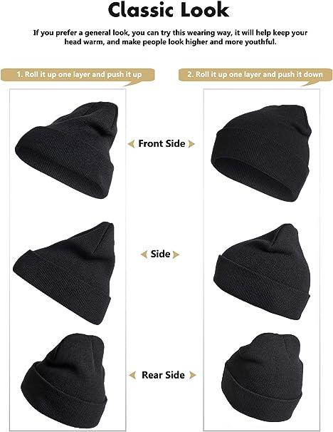 Starry Night Unisex Plain Cuff Knit Beanie Hat Skull Jogging Beanie