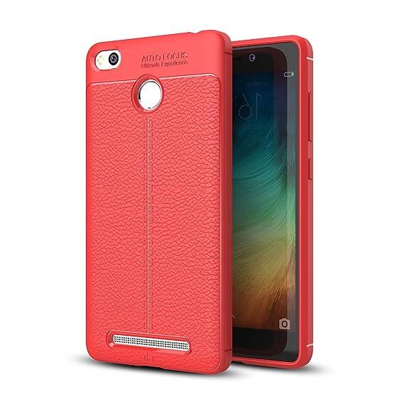 promo code 86518 ece05 Amazon.com: Xiaomi Redmi 3 Pro Case, Xiaomi Redmi 3s Prime Faux ...