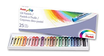 pentel arts oil pastels assorted colours 1 pack of 25 sticks