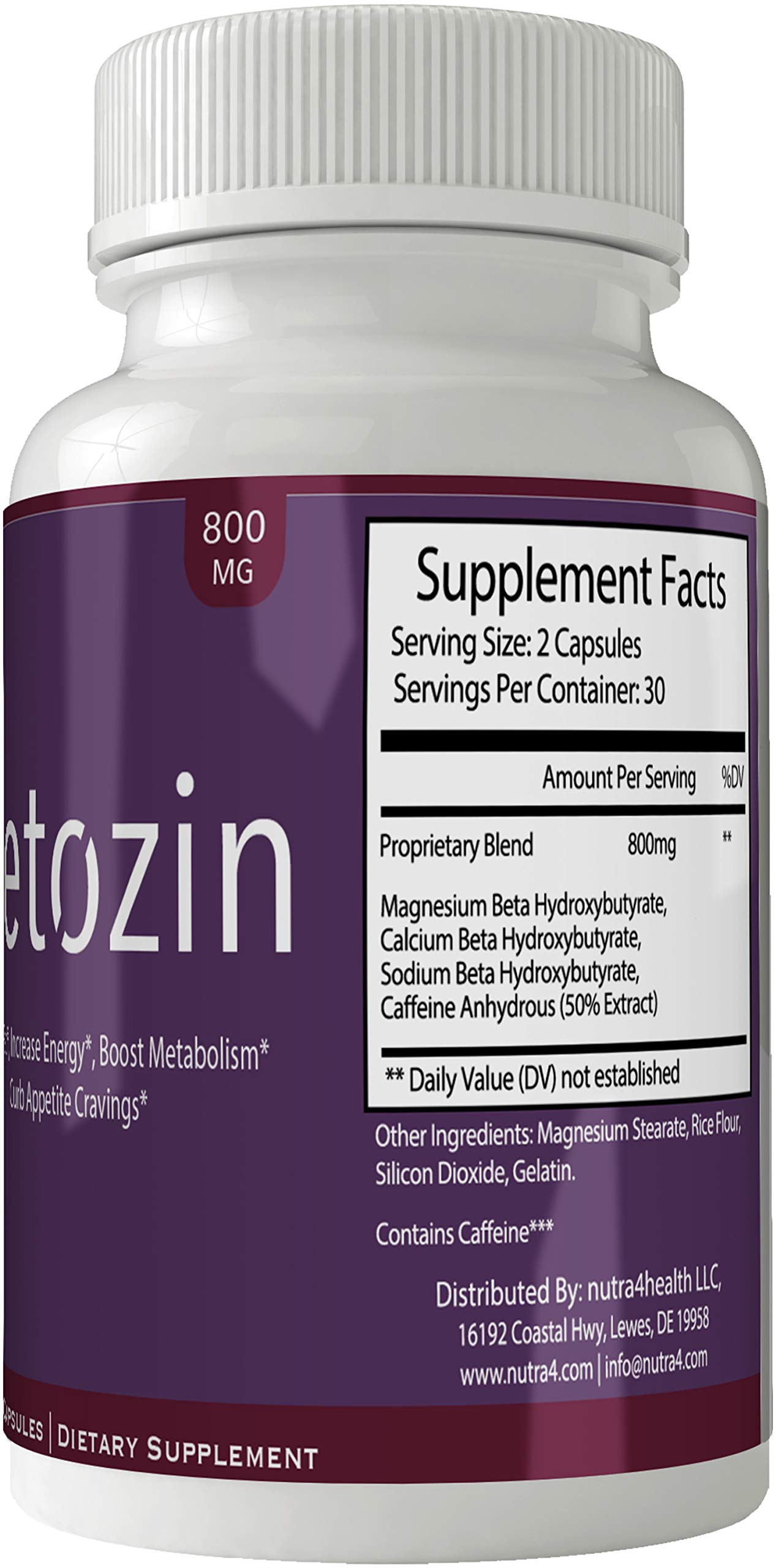 Ketozin Weight Loss Pills Advance Weight Loss Supplement Appetite Suppressant Natural Ketogenic 800 mg Formula with BHB Salts Ketone Diet Capsules to Boost Metabolism, Energy and Focus by nutra4health LLC (Image #3)