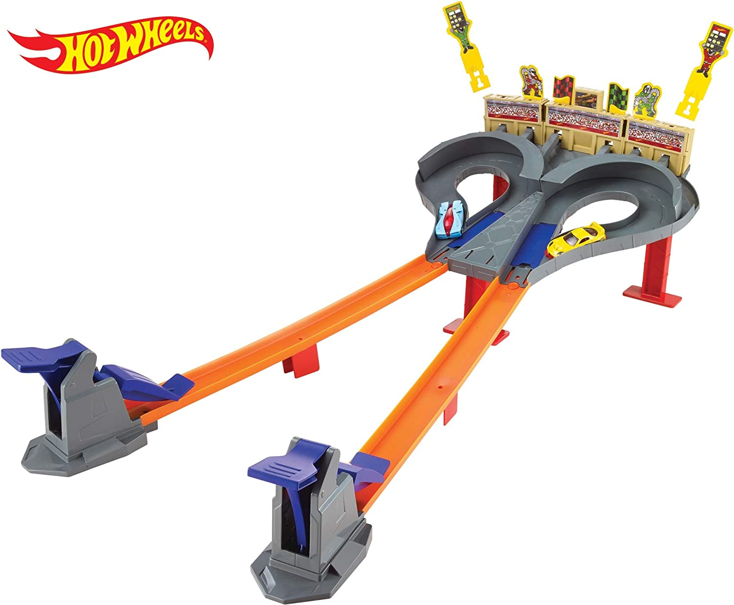 Hot Wheels - Pista dúo de carreras, pistas de coches de juguete ...