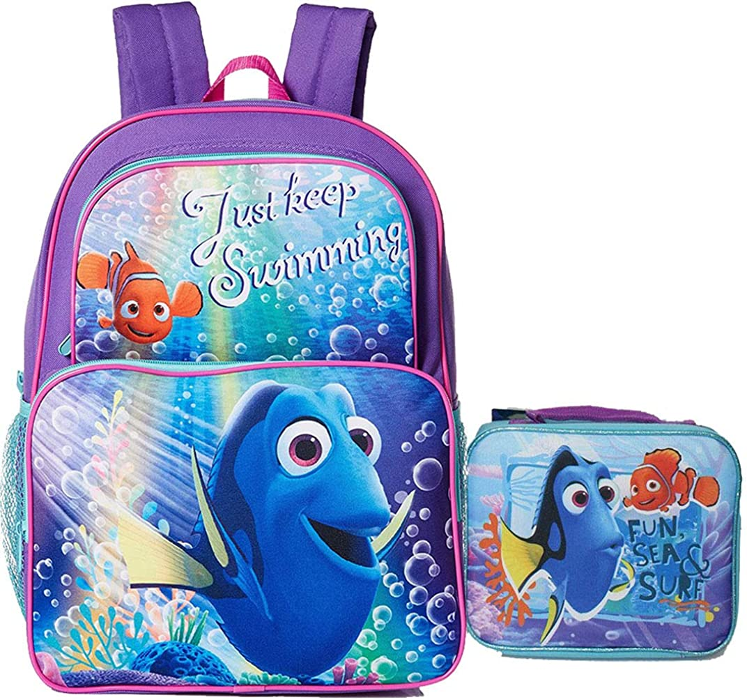 Disney New Finding Dory Backpack with Lunch Case.