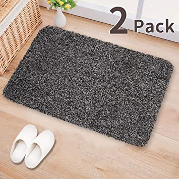 Amazon Com 2pack Indoor Doormat Absorbs Water 28 X18 Latex Backing