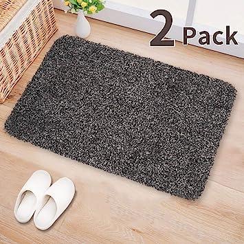 Amazon Com 2pack Indoor Doormat Absorbs Water 28 X18 Latex Backing