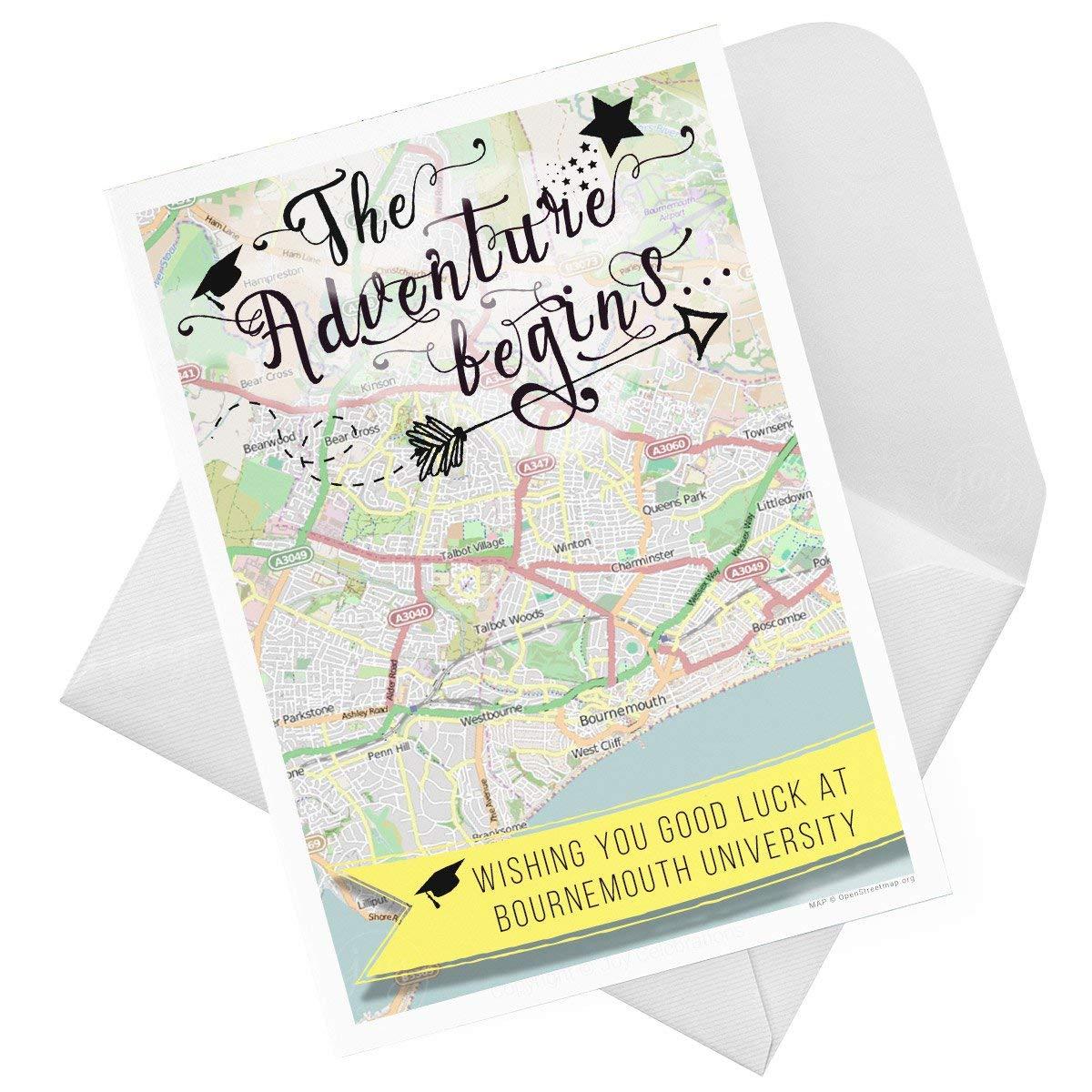 Das Abenteuer beginnt Viel Glück Universität individuell Karte ...
